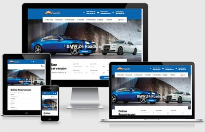 Rent A Car Web Tasarımı -1